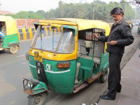 Rickshaw driver Agra