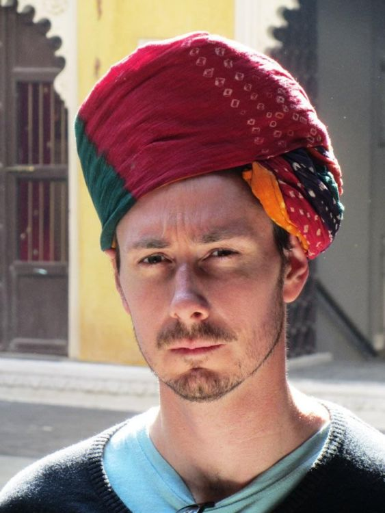 Jared in turban, Bagore-ki-haveli, Udaipur