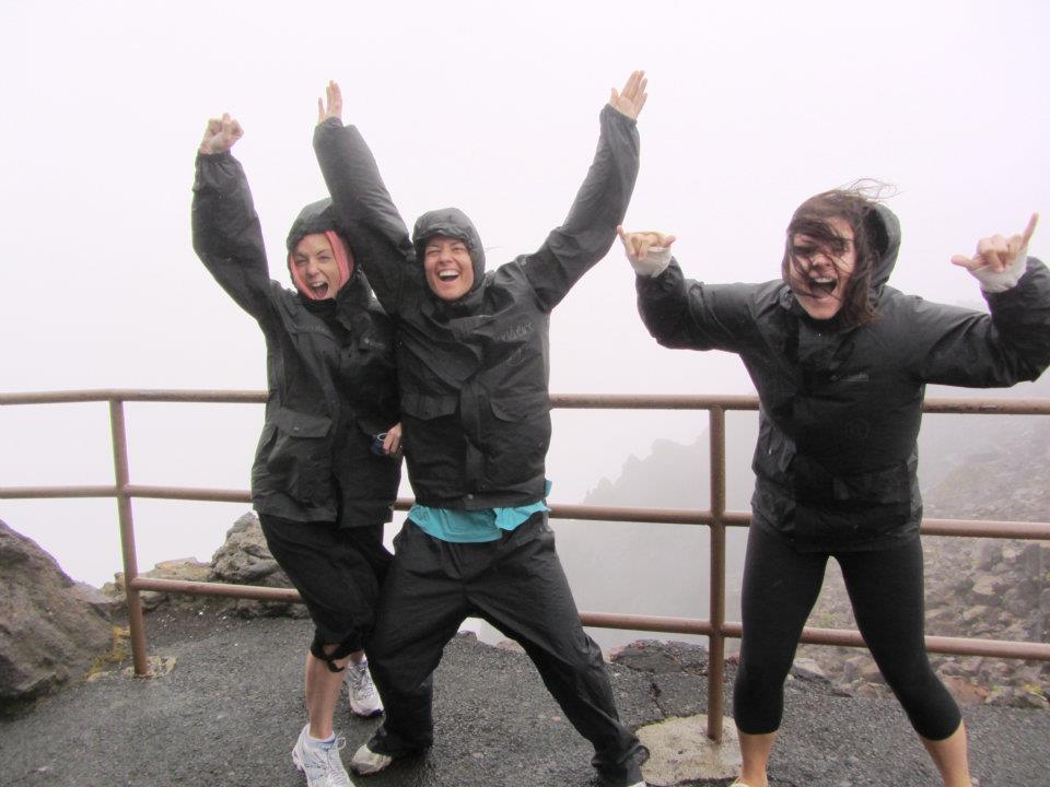 Sisters at the summit of haleakala