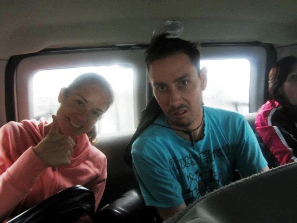 Ascending Haleakala's summit by van