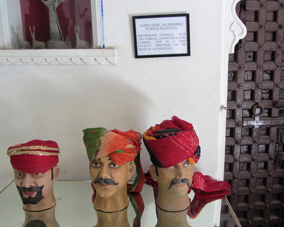 Table of turbans, Bagore-ki-haveli, Udaipur