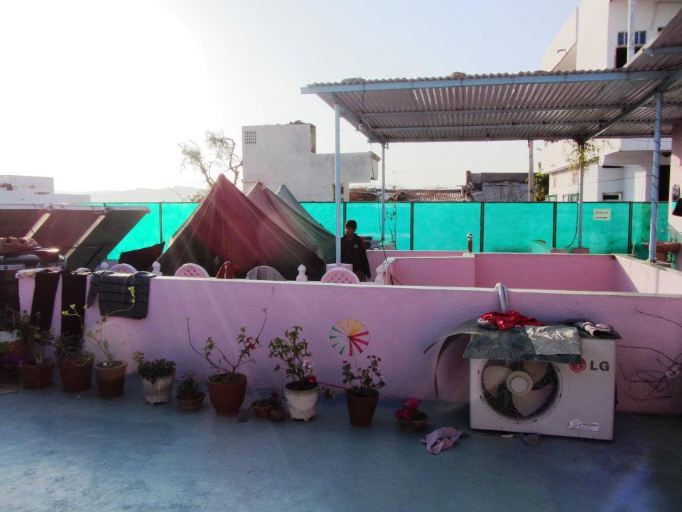 Mewargarh Palace rooftop restaurant, Udaipur