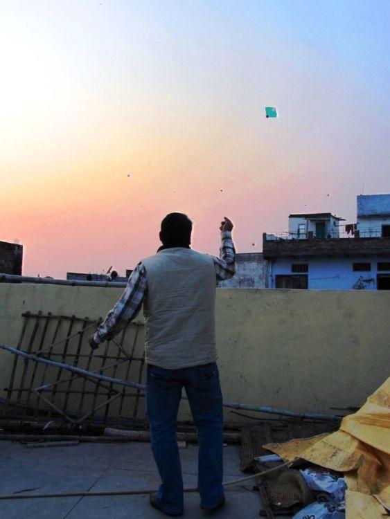 Varanasi kite flying