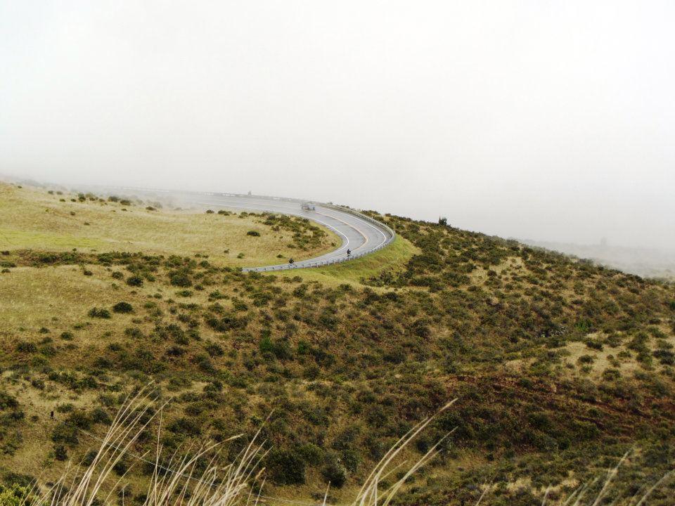Winding road down Haleakala