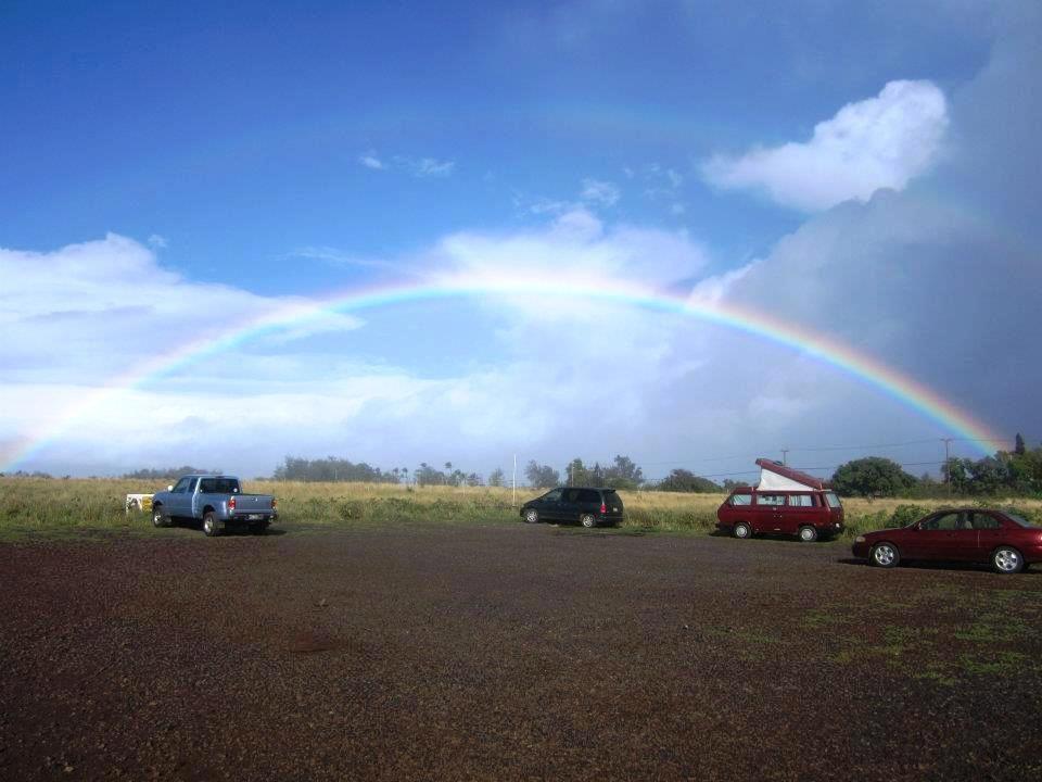 double rainbow in Pa'ia