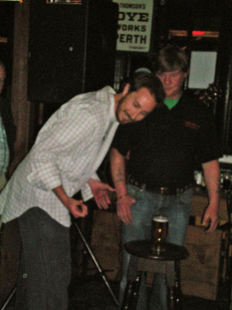 Jared necks a pint in Kilkenny