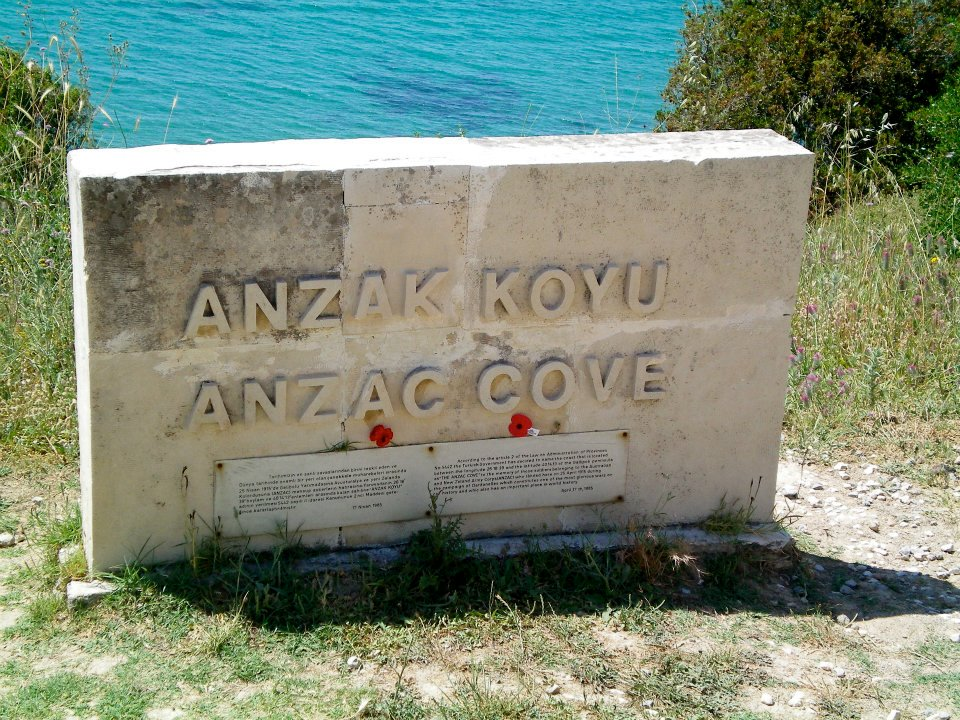ANZAC Cove sign, Gallipoli, Turkey