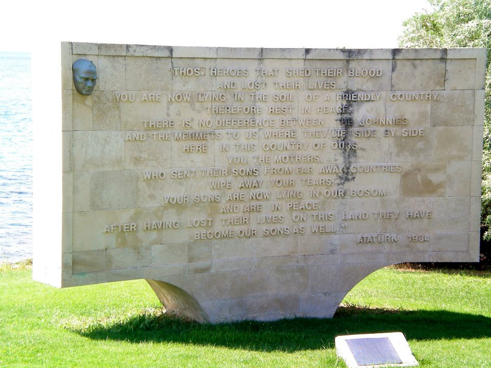 Ataturk speech ANZAC memorial
