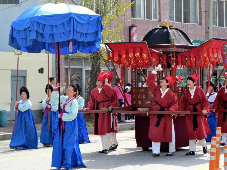 King Danjong Festival parade, Yeongwol, Korea