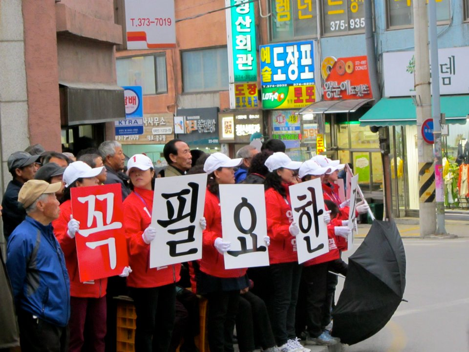 Election supporters in Korea