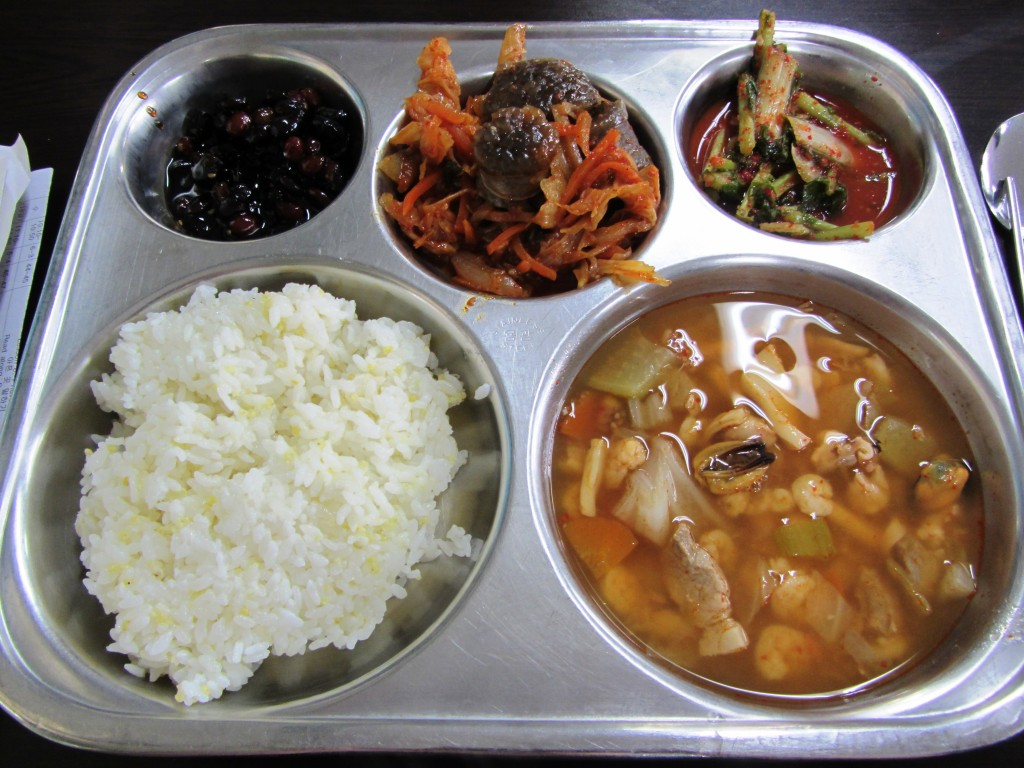 Thursday lunch - Korean cafeteria