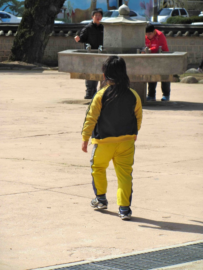 Child with a mullet in Korea
