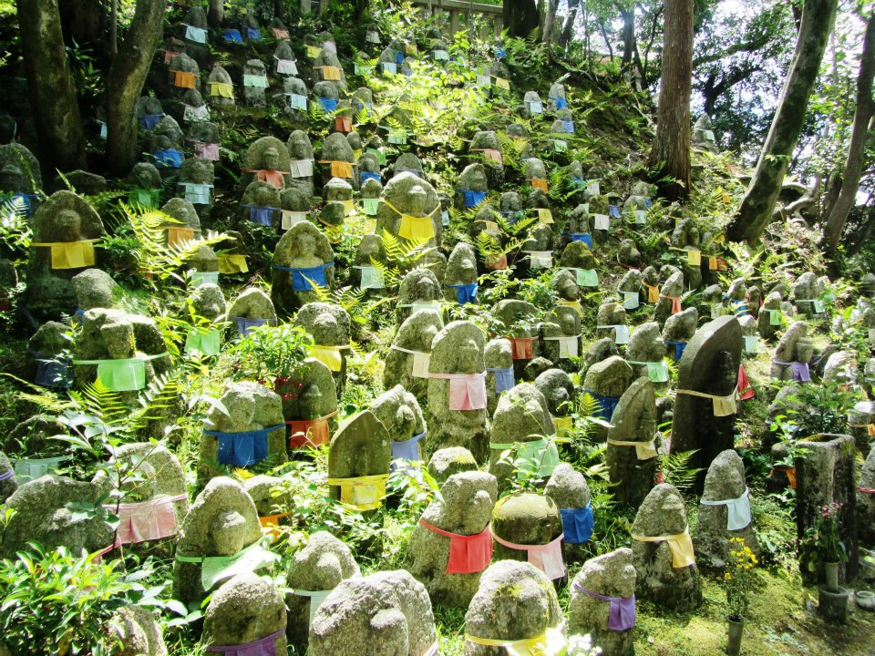 Buddha graveyard in Kyoto, Japan