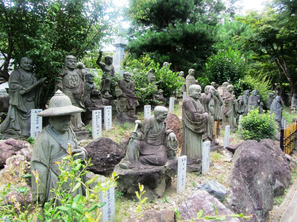 Buddha sculptures in Arashiyama, Kyoto, Japan