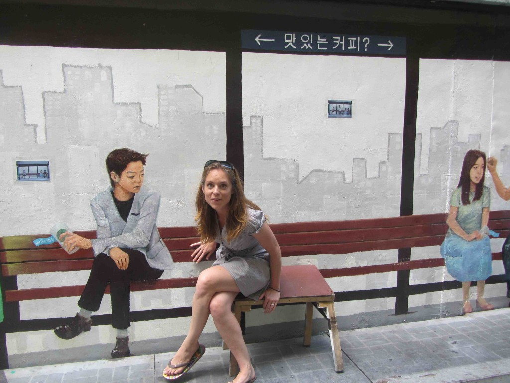 Wall art in Busan, Korea