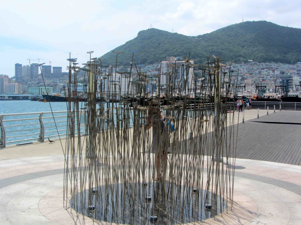 Fish sculpture in Busan, Korea