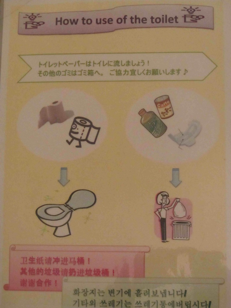 How to use the toilet, Panstar Ferry