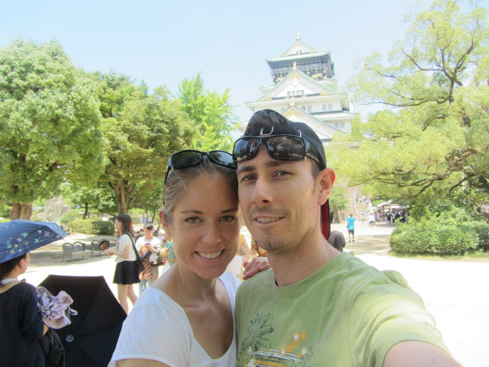Jared and I Osaka Castle