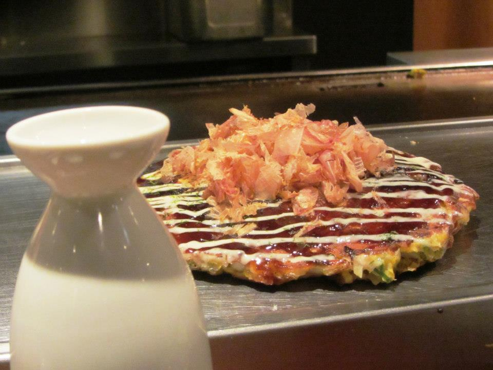 Sake and Okonomiyaki