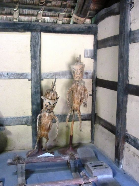 Effigies in a farmhouse - open air museum, Osaka, Japan