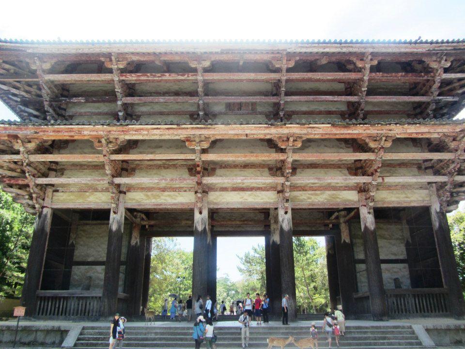 Wooden gate Nara, Japan