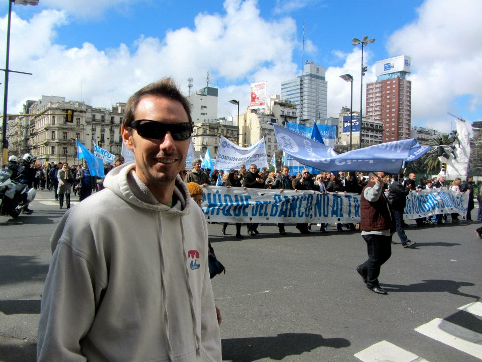 Protest in Buenos Aires, Argentina