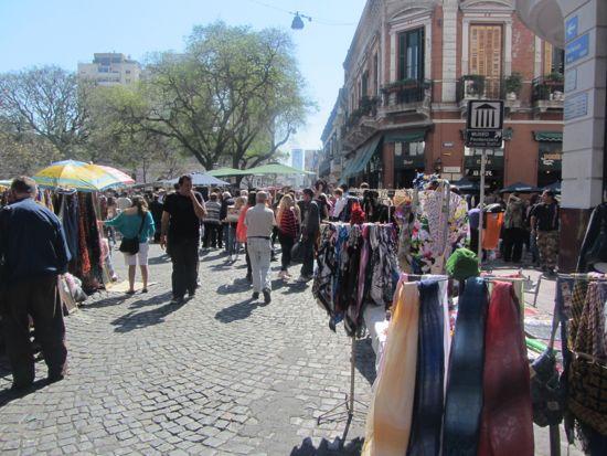 Plaza Dorrego, Sunday, San Telmo, Buenos Aires, Argentina