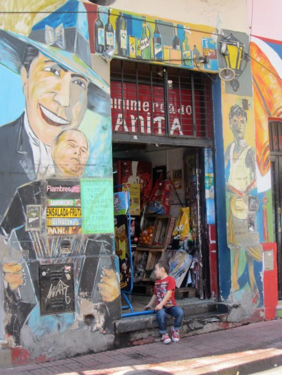 Shop front in San Telmo, Buenos Aires