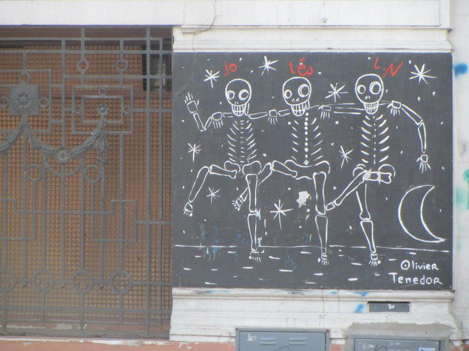 Skeletons in San Telmo, Buenos Aires