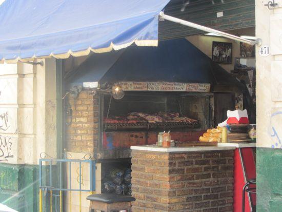 Choripan stand, San Telmo, Buenos Aires