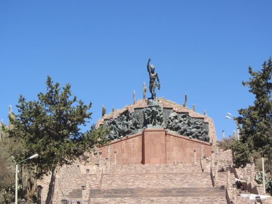 Monument in Humahuaca