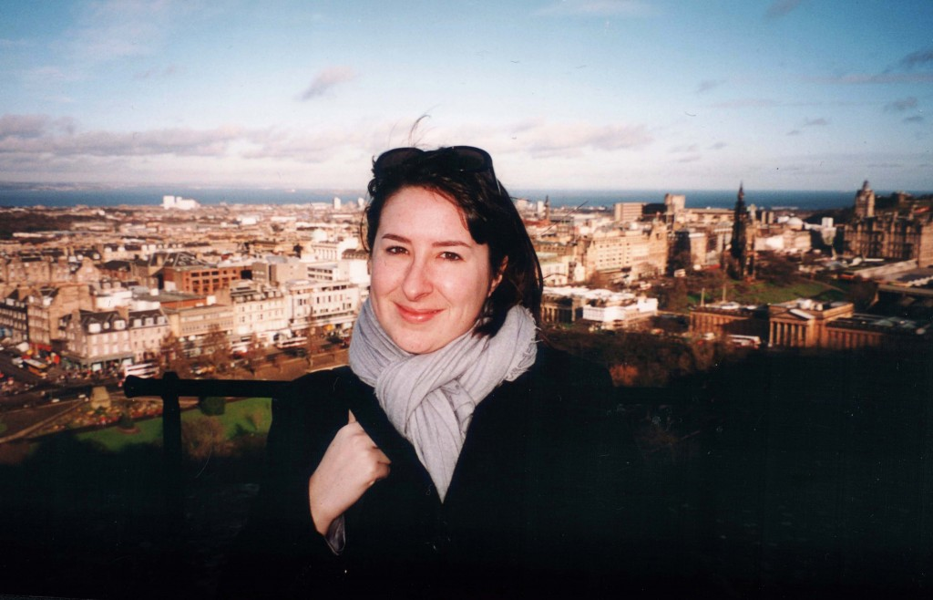 Rachel at Edinburgh Castle