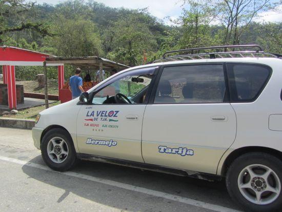 Taxi to Tarija