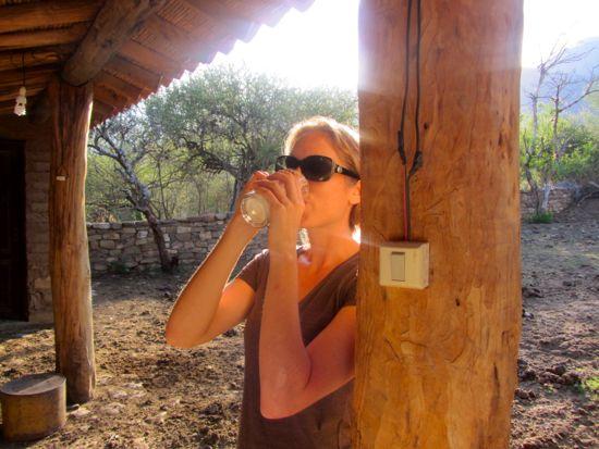 Drinking ambrosia in Bolivia
