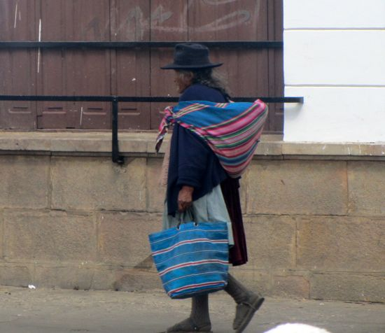 Bolivian woman, Sucre