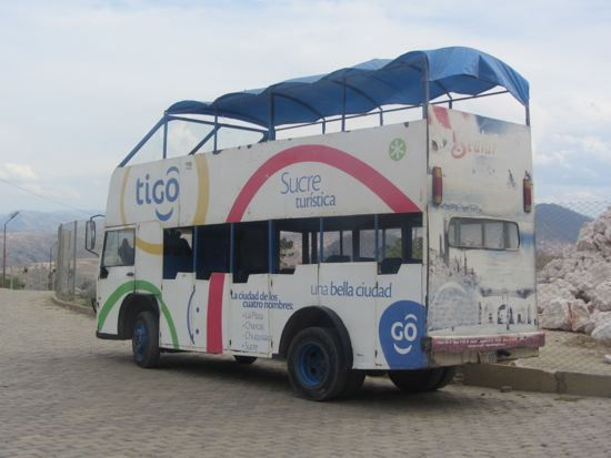 The Dino bus, Sucre, Bolivia