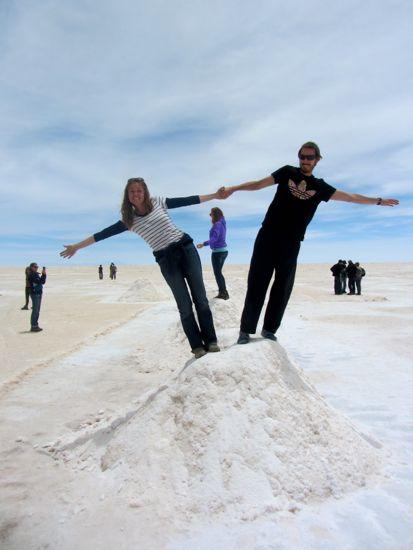 Salt Pyramids in Uyuni, Bolivia