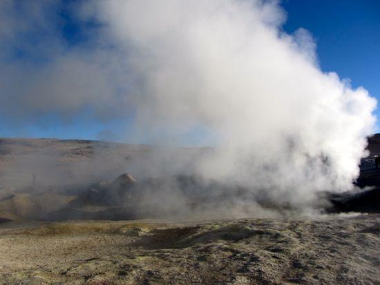 Sol de la manana geysers in Bolivia