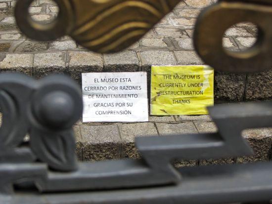 Closed museum in La Paz