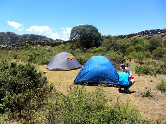 Camping in Bolivia