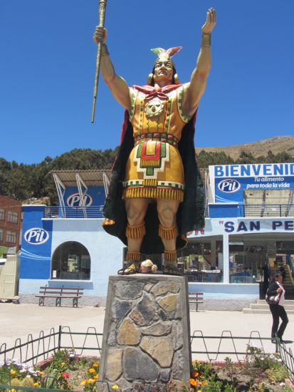 Statue of an Inca, Bolivia