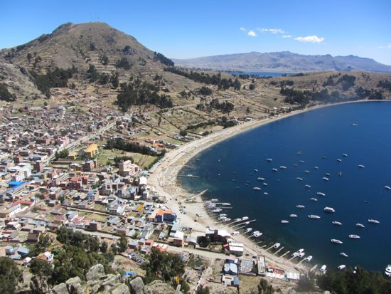 Views of Copacabana, Bolivia