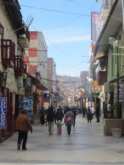 Streets of Puno, Peru