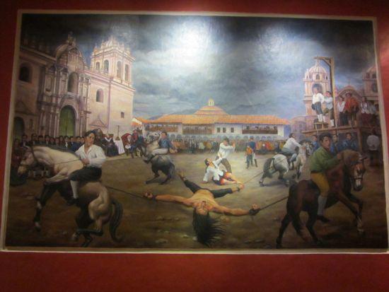 Tupac Amaru II painting, Cusco