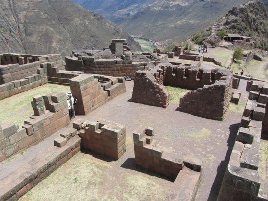 Temple remains Pisac, Peru