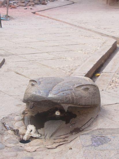 Drainage system snake in Pisac, Peru