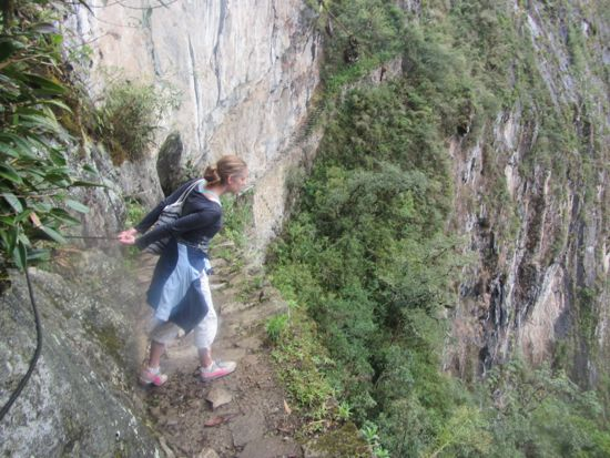Inka bridge at Machu Picchu