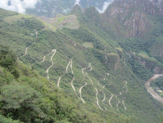 Machu Picchu bus route
