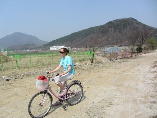 Cycling in Yeongwol, Korea