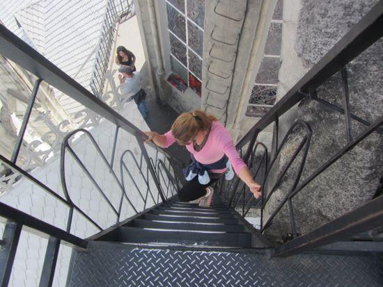 Basilica del Voto Nacional stairs